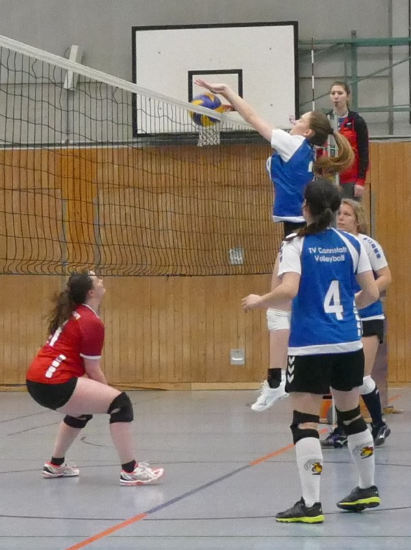 Damen 2 Volleyball Block